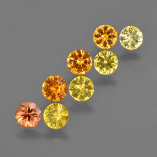 Yellow Golden Sapphire Gem - 0.3ct Diamond-Cut (ID: 424424)