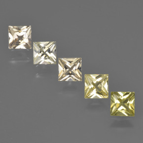 Light Yellow Sapphire Gem - 0.4ct Princess-Cut (ID: 424442)