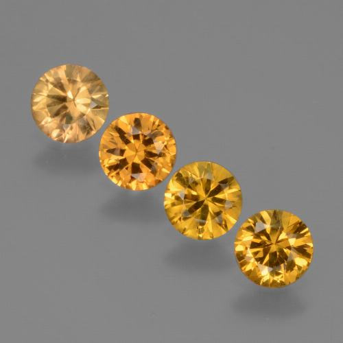 Orange-Gold Zafiro Gema - 0.4ct Corte Diamante (ID: 424469)