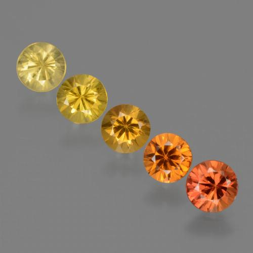 Yellow Orange Sapphire Gem - 0.4ct Diamond-Cut (ID: 424476)