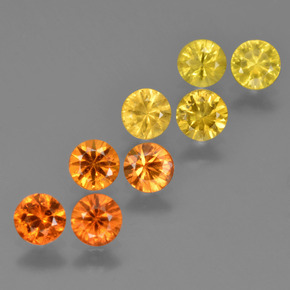 Yellow Orange Sapphire Gem - 0.3ct Diamond-Cut (ID: 424610)
