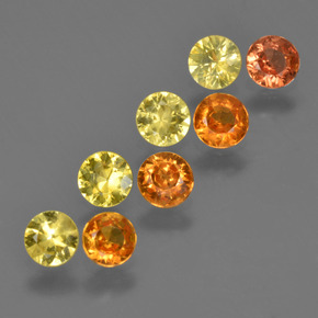 Yellow Orange Sapphire Gem - 0.2ct Diamond-Cut (ID: 424612)