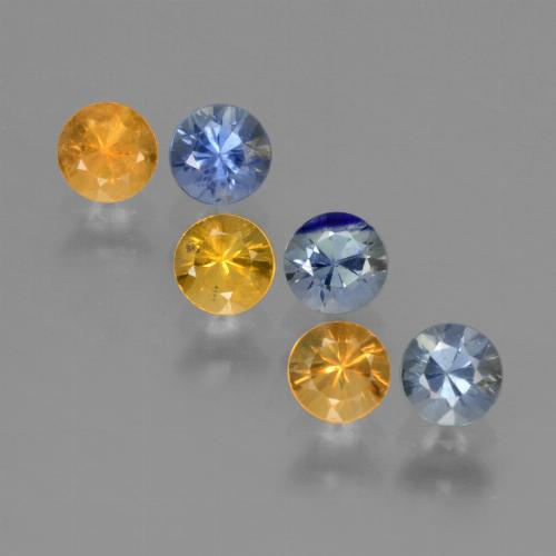 Multicolor Sapphire Gem - 0.3ct Diamond-Cut (ID: 424679)