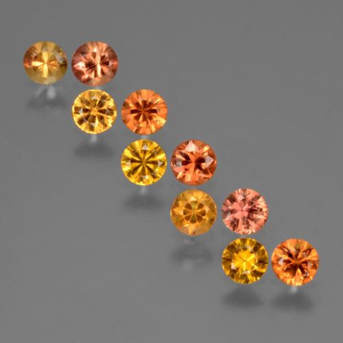 Yellow Orange Sapphire Gem - 0.2ct Diamond-Cut (ID: 424683)