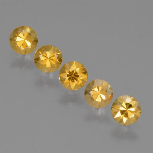 Yellow Golden Sapphire Gem - 0.3ct Diamond-Cut (ID: 425140)