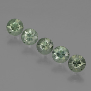 Medium Green-Grey Zafiro Gema - 0.3ct Corte Diamante (ID: 425141)