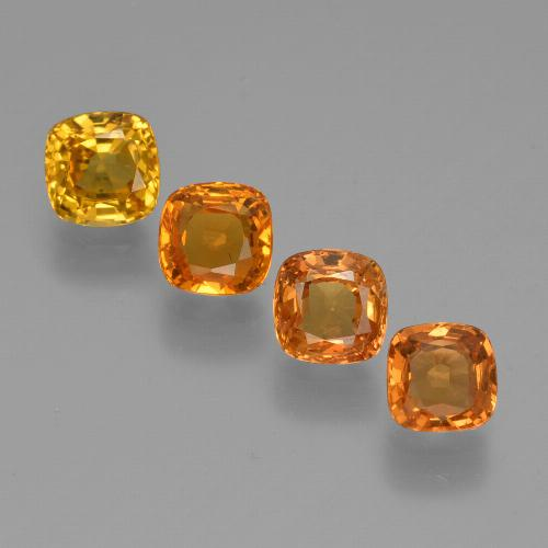 0.5ct Cushion-Cut Medium Orange Sapphire Gem (ID: 427188)