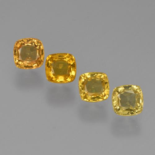 Medium Orange-Gold Zafiro Gema - 0.3ct Corte en Forma Cojín (ID: 427193)