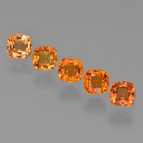 0.5ct Cushion-Cut Fire Orange Sapphire Gem (ID: 427198)