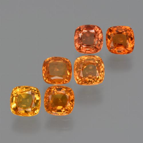 0.6ct Cushion-Cut Fire Orange Sapphire Gem (ID: 427569)