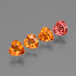 0.4ct Heart Facet Red Orange Sapphire Gem (ID: 428033)