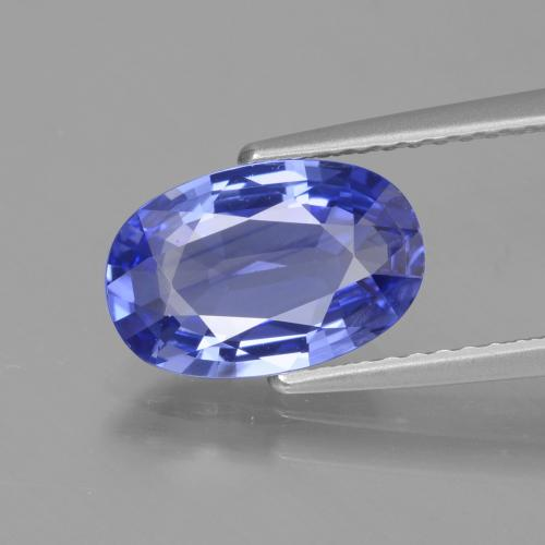 2.35 ct Oval Facet Intense Violet Blue Sapphire Gemstone 10.49 mm x 6.9 mm (Product ID: 429656)