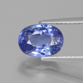2.14 ct Oval Facet Blue Sapphire Gemstone 8.51 mm x 6.2 mm (Product ID: 429658)