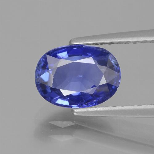 2.12 ct Oval Facet Deep Blue Sapphire Gemstone 8.66 mm x 6.4 mm (Product ID: 429659)