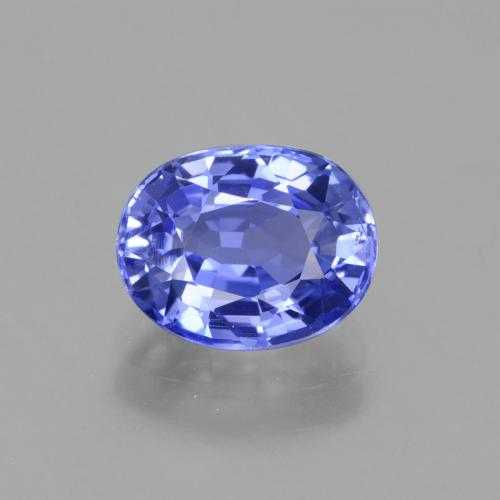 2.14 ct Oval Facet Deep Violet Blue Sapphire Gemstone 8.12 mm x 6.4 mm (Product ID: 429660)