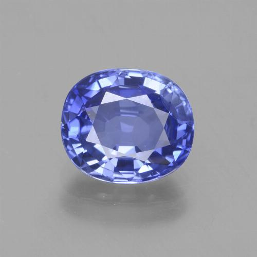 2.17 ct Oval Facet Intense Violet Blue Sapphire Gemstone 8.07 mm x 7 mm (Product ID: 429661)