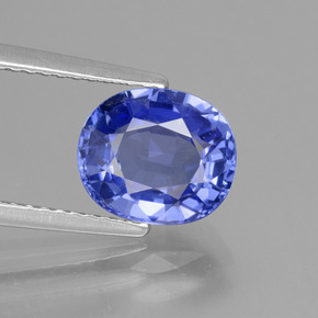 2.91 ct Oval Facet Blue Sapphire Gemstone 8.87 mm x 7.6 mm (Product ID: 429672)