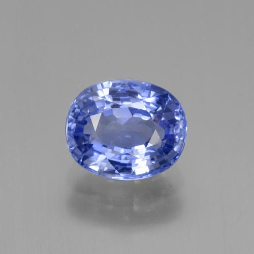 2.63 ct Oval Facet Blue Sapphire Gemstone 8.49 mm x 7 mm (Product ID: 429673)