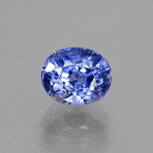 2.71 ct Oval Facet Cornflower Blue Sapphire Gemstone 8.27 mm x 6.9 mm (Product ID: 429676)
