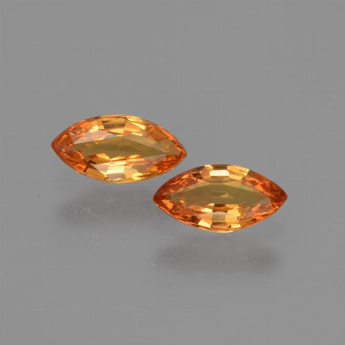 Yellow Golden Sapphire Gem - 0.4ct Marquise Facet (ID: 429706)