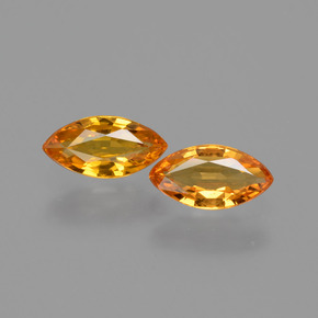 Yellow Golden Sapphire Gem - 0.6ct Marquise Facet (ID: 429958)