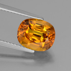 3.57 ct Oval Facet Yellow Golden Sapphire Gemstone 9.50 mm x 7.8 mm (Product ID: 434153)