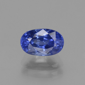 1.83 ct Oval Facet Blue Sapphire Gemstone 8.12 mm x 5.1 mm (Product ID: 434797)