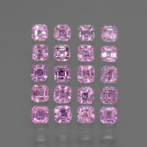 Very Light Pink Sapphire Gem - 0.1ct Octagon Facet (ID: 434840)