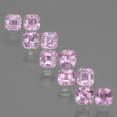 Very Light Royal Purple Pink Sapphire Gem - 0.2ct Octagon Facet (ID: 435183)