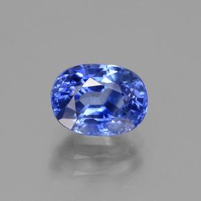 2.52 ct Oval Facet Blue Sapphire Gemstone 8.44 mm x 6.2 mm (Product ID: 435302)