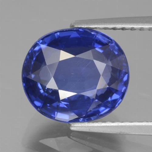 Cornflower Blue Sapphire Gem - 4.8ct Oval Facet (ID: 439672)