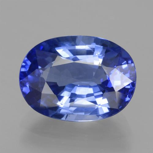 5.5ct Oval Facet Cornflower Blue Sapphire Gem (ID: 439686)