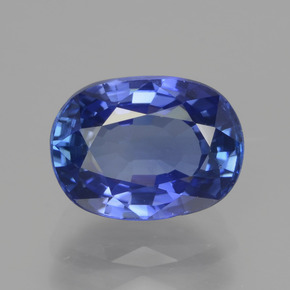 3.29 ct Oval Facet Blue Sapphire Gemstone 9.47 mm x 7.1 mm (Product ID: 439692)