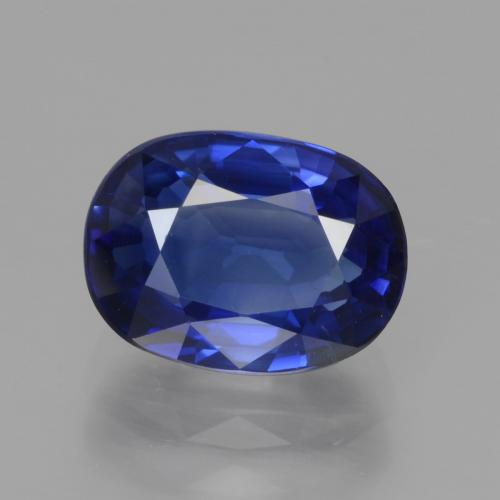 Cornflower Blue Sapphire Gem - 3.3ct Oval Facet (ID: 439693)