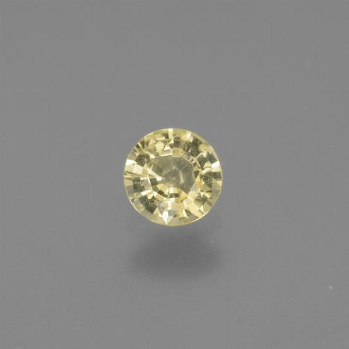 Yellow Sapphire Gem - 0.5ct Round Facet (ID: 441118)
