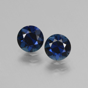 0.81 ct Diamond-Cut Blue Sapphire Gemstone 5.51 mm  (Product ID: 441505)