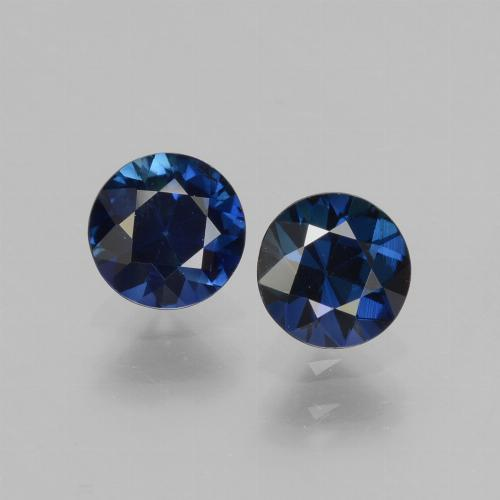 0.60 ct Diamond-Cut Blue Sapphire Gemstone 5.05 mm  (Product ID: 441506)