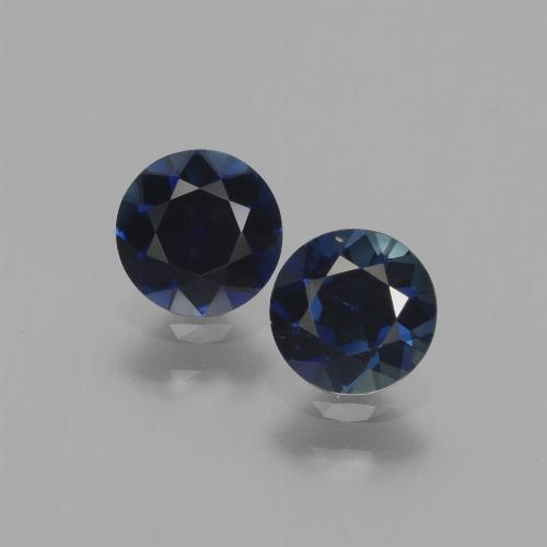 0.6ct Diamond-Cut Dark Blue Sapphire Gem (ID: 441527)
