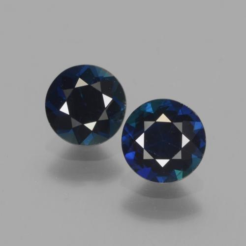0.8ct Diamond-Cut Dark Blue Sapphire Gem (ID: 441528)