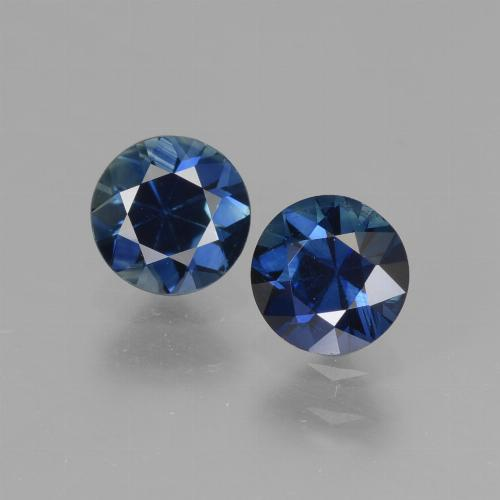 Midnight Blue Sapphire Gem - 0.7ct Diamond-Cut (ID: 441530)