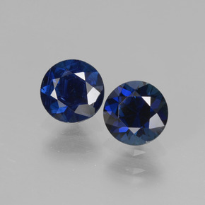 Deep Blue Sapphire Gem - 0.6ct Diamond-Cut (ID: 441532)
