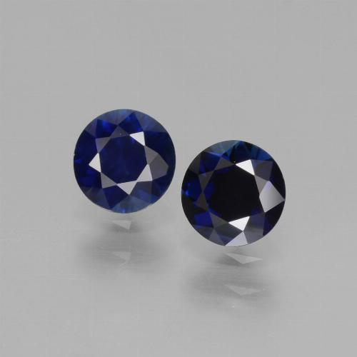 Navy Blue Sapphire Gem - 0.5ct Diamond-Cut (ID: 441534)