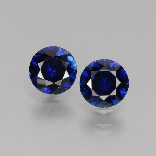 Dark Blue Sapphire Gem - 0.6ct Diamond-Cut (ID: 441537)
