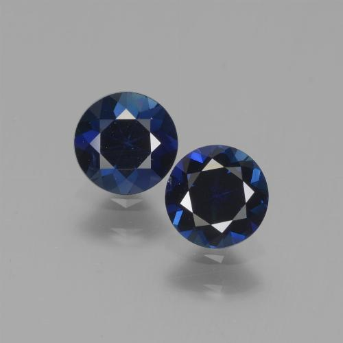 0.5ct Diamond-Cut Blue Sapphire Gem (ID: 441546)