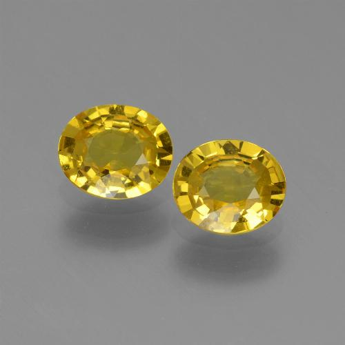 Yellowish Gold Sapphire Gem - 0.6ct Oval Facet (ID: 443542)