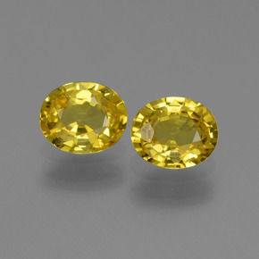 Yellow Golden Sapphire Gem - 0.8ct Oval Facet (ID: 443543)