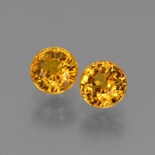Yellow Sapphire Gem - 0.7ct Round Facet (ID: 443558)