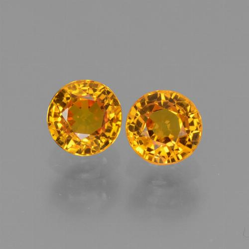 Yellow Sapphire Gem - 0.7ct Round Facet (ID: 443559)