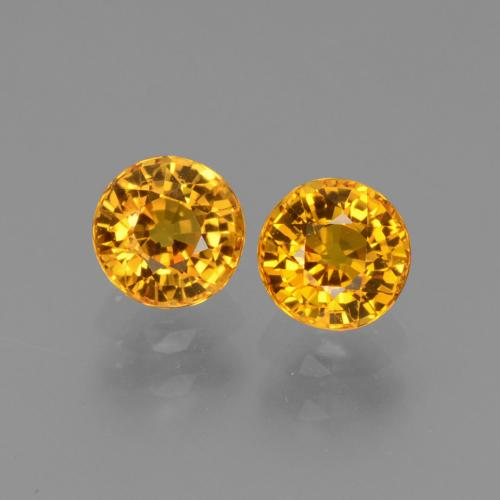 thumb image of 1.3ct Round Facet Yellow Sapphire (ID: 443563)