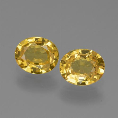 Yellow Golden Sapphire Gem - 0.6ct Oval Facet (ID: 443612)